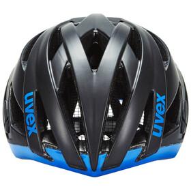 UVEX ultrasonic race Helm black mat-blue